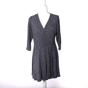 Mossimo blue and white stripe wrap dress size XL